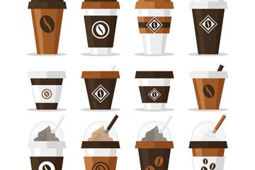 12款创意外卖咖啡矢量素材