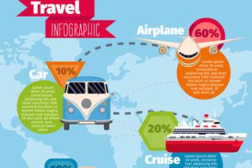 创意旅行工具信息图矢量素材