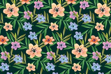 彩色花枝无缝背景矢量素材