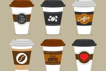 6款创意外卖咖啡设计矢量素材