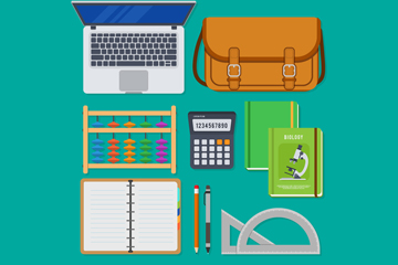 11款创意学习用品矢量素材