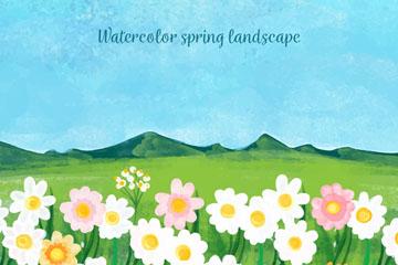 彩绘春季花丛风景开户送体验彩金的网站