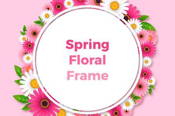 创意春季菊花框架设计矢量素材