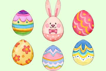 6款彩绘花纹彩蛋矢量素材