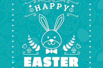 白色兔子复活节贺卡最新网络赌博网站