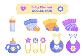 15款彩色婴儿用品矢量素材
