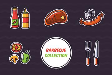 12款创意烧烤元素乐虎国际线上娱乐图