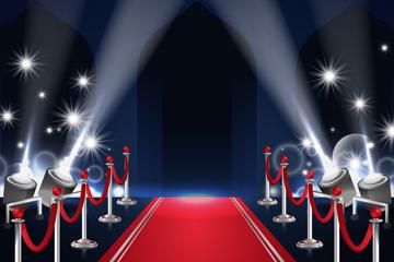 创意红毯场景设计矢量素材
