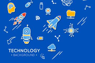 创意科技元素贴纸背景最新网络赌博网站