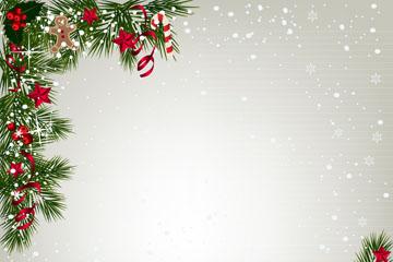 创意圣诞节松枝框架矢量素材