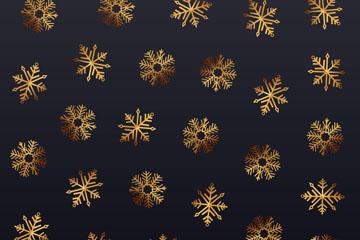 金色雪花无缝背景设计矢量素材