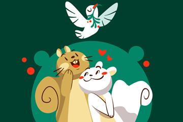可爱圣诞松鼠情侣最新网络赌博网站