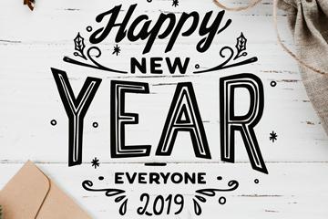 创意2019年新年贺卡矢量素材