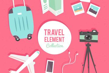 8款创意旅行元素设计矢量素材