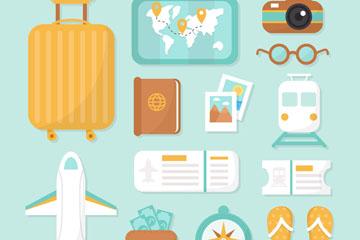 14款创意旅行元素设计矢量素材