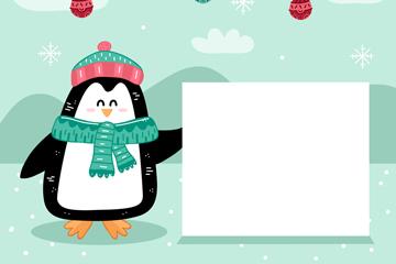 彩绘扶空白纸板的企鹅最新网络赌博网站