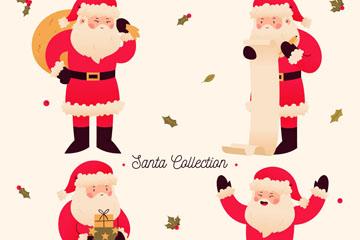 4款创意圣诞老人矢量素材