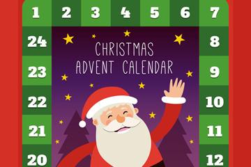 创意圣诞老人月历矢量素材