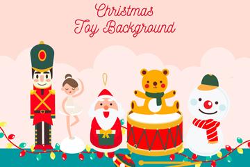 6个可爱圣诞节玩具矢量素材
