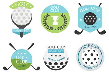 6款创意高尔夫标签设计矢量图