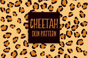 创意非洲猎豹花纹背景矢量图
