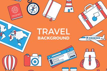 17款创意旅行元素设计矢量图