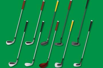 10款精美高尔夫球杆设计矢量图