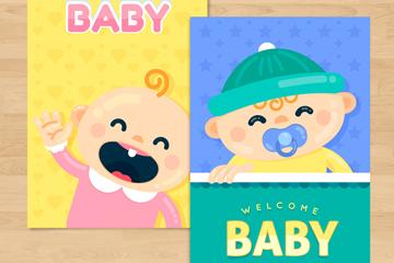 2款可爱迎婴卡片设计开户送体验彩金的网站