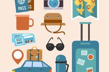 11款创意旅行元素矢量素材