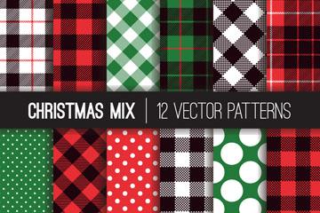 8款创意圣诞节花纹无缝背景矢量