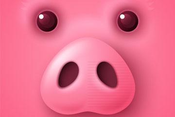 卡通粉色猪脸设计最新网络赌博网站