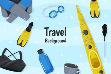 10款创意户外旅行物品矢量素材
