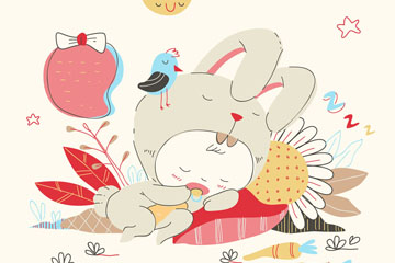 彩�L睡眠的兔子�b��菏噶克夭�