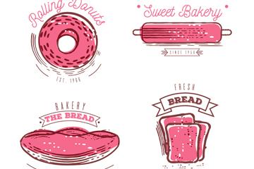 6款粉色烘培元素�酥臼噶�D