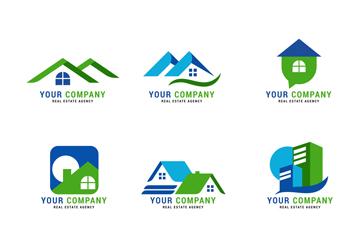 9款抽象房屋标志设计矢量素材