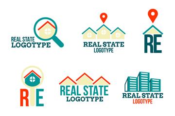 9款抽象房地产标志矢量素材