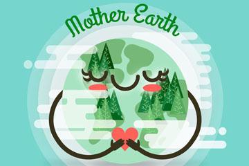 创意世界地球日微笑地球矢量素材