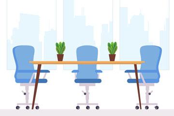 创意商务办公室设计矢量素材