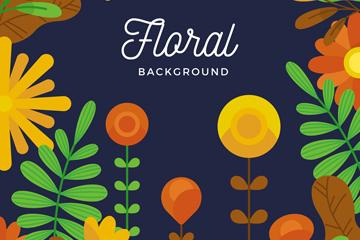 抽象彩色花卉设计矢量素材