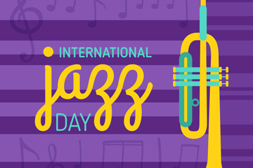 创意国际爵士乐日小号矢量素材