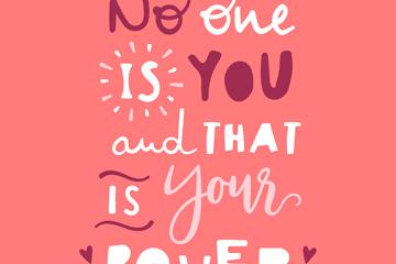 粉色励志隽语艺术字矢量素材