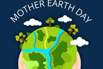 ��意世界地球日美��地球矢量素材