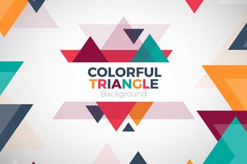 彩色三角形背景设计矢量素材