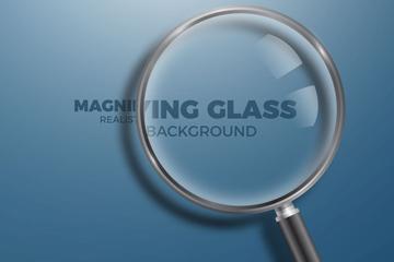 精美玻璃放大镜矢量素材