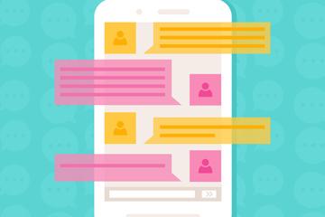 彩色手机信息浏览界面矢量素材