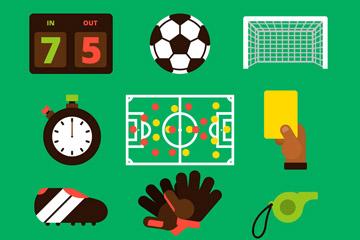 12款彩色足球元素图标矢量素材