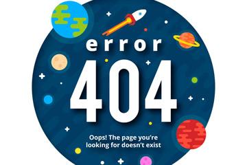 创意404错误页面太空开户送体验彩金的网站