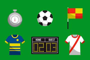 9款创意足球元素设计矢量素材
