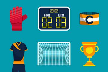 9款精美足球物品设计矢量素材