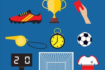 9款创意足球物品设计矢量素材